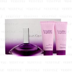 Calvin Klein 卡爾文克來恩 - Forbidden Euphoria Coffret: Eau De Parfum Spray 100ml/3.4oz + Body Cream 100ml/3.4oz + Shower Gel 100ml/3.4oz