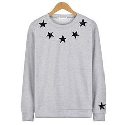 Seoul Homme - Star Embroidered T-Shirt