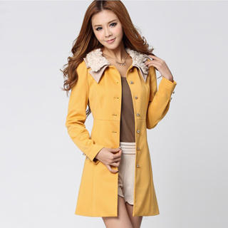 O.SA - Contrast-Collar Coat