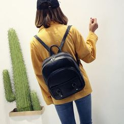 Bam's - Faux-Leather Backpack
