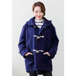 Dalkong - Hooded Toggle-Button Duffle Coat