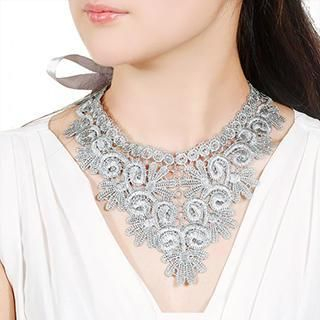 Linglady - Crochet Bib Necklace