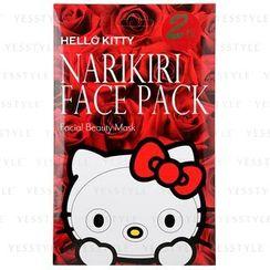Sanrio - Narikiri Face Pack Facial Beauty Mask (Hello Kitty) (Rose)