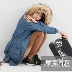 Tokyo Fashion - Fleece-Lined Faux-Fur Hooded Parka
