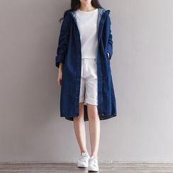 Epoch - Hooded Denim Jacket