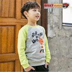 BILLY JEAN - Boys Contrast Raglan-Sleeve Graphic Sweatshirt