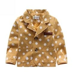 Endymion - Kids Dotted Notch Lapel Coat