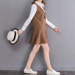 Fancy Show - Mock Two-Piece Corduroy Dress