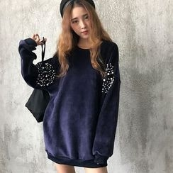 Bloombloom - Studded Long Sweatshirt