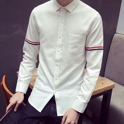 Bay Go Mall - Striped Slim Fit Shirt