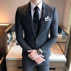 Besto - 套装: 西装外套 + 马甲 + 西裤