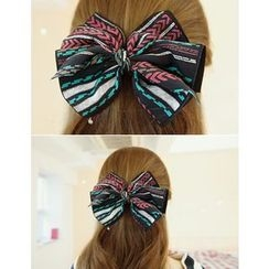 soo n soo - Patterned Bow Hair Barrette