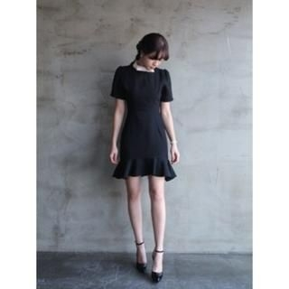 snfeel - Bow-Accent Ruffle-Hem Dress