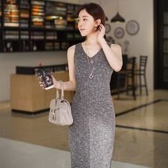 SimplyMe - Slit Knit Tank Dress
