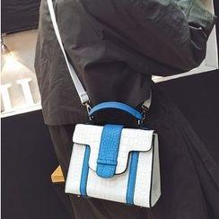 Youme - Color Block Handbag with Shoulder Strap