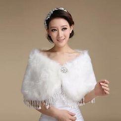 Bridal Workshop - Faux-Fur Cape
