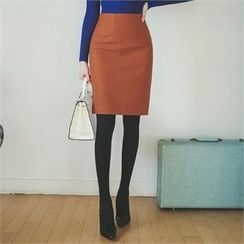 ode' - High-Waist Pencil Skirt
