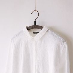 Bonbon - Embroidered Long-Sleeve Shirt