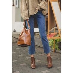 migunstyle - Washed Cropped Jeans