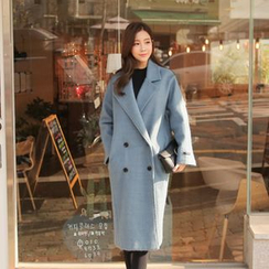 Cherryville - Wool Blend Double-Breasted Coat