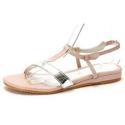 MODELSIS - Two-Tone Strap Thong Sandals