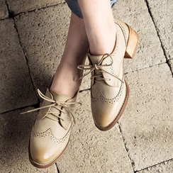 MIAOLV - Chunky Heel Brogue Oxfords