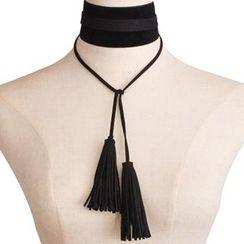 Seirios - Tasseled Tie Choker