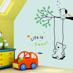 LESIGN - Kids Bear Print Wall Sticker