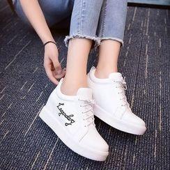 BARCA - Hidden Wedge Lettering Sneakers
