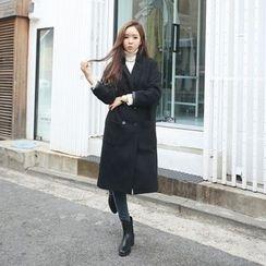 Envy Look - Drop-Shoulder Double-Breasted Coat