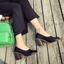 QQ Trend - 粗跟高跟鞋