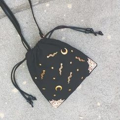 Nautilus Bags - Studded Drawstring Shoulder Pouch