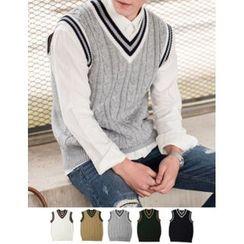 STYLEMAN - Wool-Blend V-Neck Vest