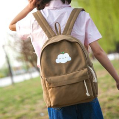 Crystal - Cartoon Print Canvas Backpack