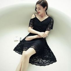 Sherbo - Off-Shoulder Lace Party Dress
