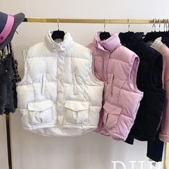 Dream Girl - Plain Cropped Padded Vest
