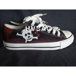 HVBAO - Skull-and-Crossbones Canvas Sneakers