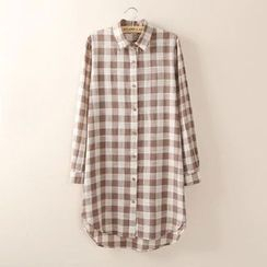 Tangi - Gingham Long Shirt