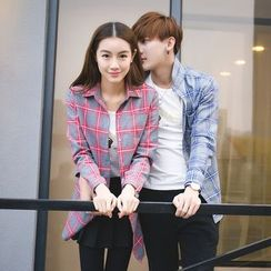 Evolu Fashion - Couple Matching Check Shirt
