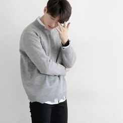 Seoul Homme - Distressed Hem Knit Top
