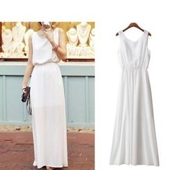 Isadora - 无袖露背长雪纺连衣裙