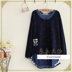 Fairyland - Long-Sleeve Mock Two-Piece Top