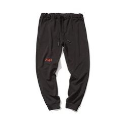 Mitouomo - Embroidered Sweatpants