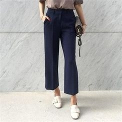 LIPHOP - High-Waist Wide-Leg Pants