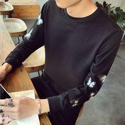 Alvicio - Butterfly Print Sweatshirt