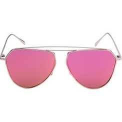 GIMMAX Glasses - Double Bar Color Lens Sunglasses