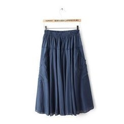JVL - Elastic-Waist Long Skirt
