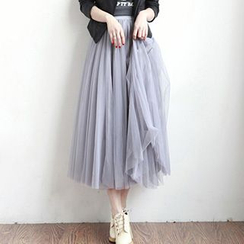 Sofia - Mesh Maxi Skirt