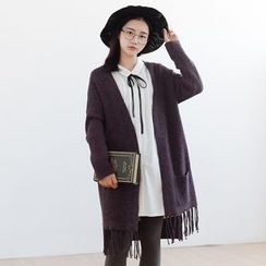 Forest Girl - Fringed Long Cardigan