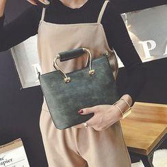 Clair Fashion - 質感仿舊感皮革側背包